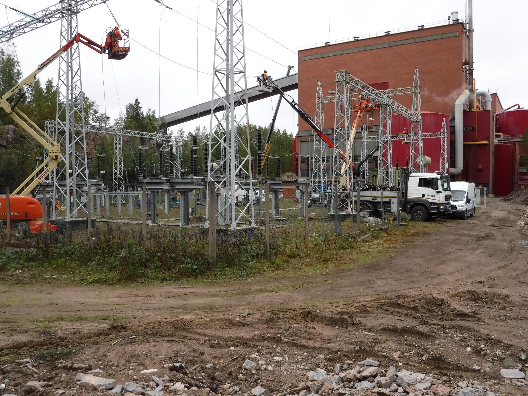 StoraEnso 110 kV kentän virtaköysien uusinta